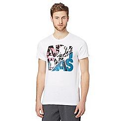 adidas - White lineage logo print