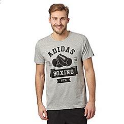 adidas - Grey 'BOXING NYC' t-shirt