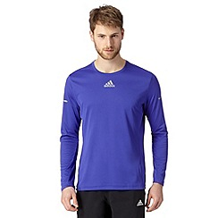 adidas - Bright blue 'Run' reflective logo top