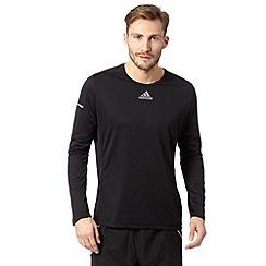 adidas - Black 'Run' reflective logo top