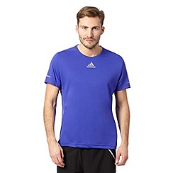 adidas - Bright blue 'Run' reflective logo t-shirt