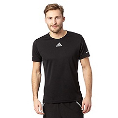 adidas - Black 'Run' reflective logo t-shirt