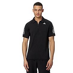 adidas - Black 'Climacool' polo shirt