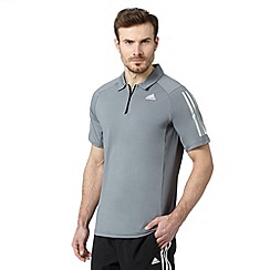adidas - Grey 'ClimaCool' polo shirt