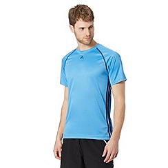 adidas - Blue perforated t-shirt