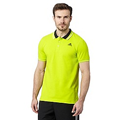 adidas - Yellow 'ClimaLite' polo shirt