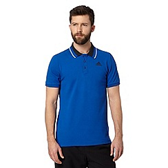 adidas - Royal blue 'Climalite' polo shirt