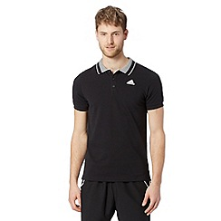 adidas - Black 'Climalite' polo shirt