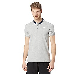 adidas - Grey 'Climalite' polo shirt