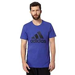 adidas - Dark blue logo print t-shirt