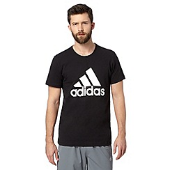 adidas - Black logo print t-shirt