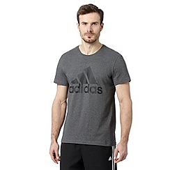 adidas - Dark grey sport logo t-shirt