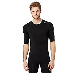 adidas - Black 'Techfit' compression base layer t-shirt