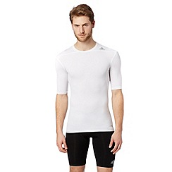 adidas - White 'Techfit' compression base layer t-shirt
