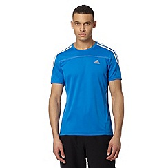 adidas - Royal blue 'Climalite' sports t-shirt