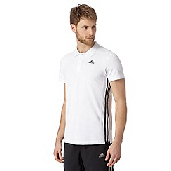 adidas - White 'Climalite' polo shirt