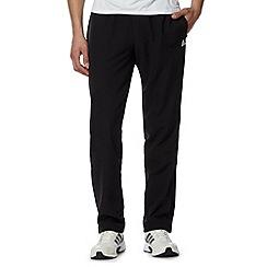 adidas - Black 'Climalite' zip cuffs trousers