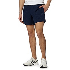 adidas - Navy 'Climalite' logo print shorts