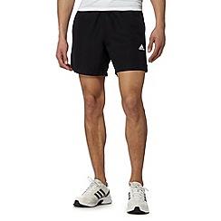 adidas - Black 'Climalite' logo print shorts