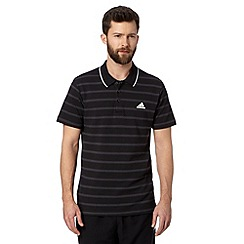 adidas - Black 'Climalite' striped polo shirt