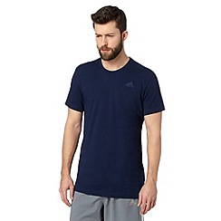 adidas - Navy 'Climalite' crew neck t-shirt