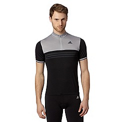 adidas - Black zip neck jersey top