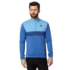 adidas - Blue roll neck zip cycling top
