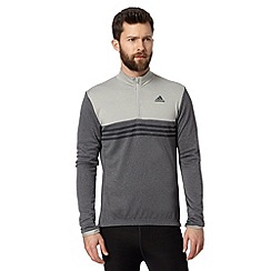 adidas - Black roll neck zip cycling top