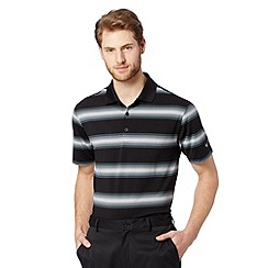 Nike - Black 'Dri-FIT' UPF striped polo shirt