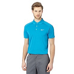 Nike - Blue slim fit polo shirt