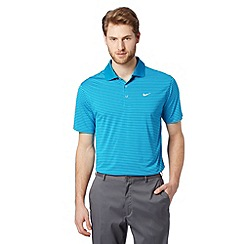 Nike - Blue 'Dri-FIT' striped polo shirt