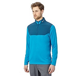 Nike - Blue panel half zip top