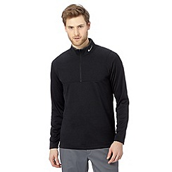 Nike - Black panel half zip top
