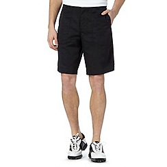 Nike - Black herringbone texture shorts