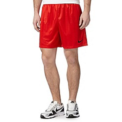 Nike - Red 'Dri-FIT' logo embroidered shorts