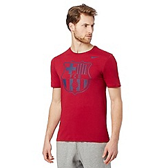 Nike - Red Barcelona FC crest t-shirt
