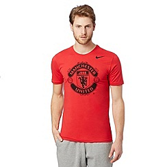 Nike - Red 'Manchester United' t-shirt