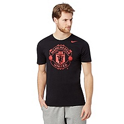 Nike - Black 'Manchester United' t-shirt