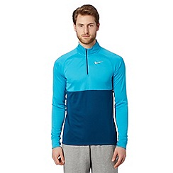 Nike - Blue 'Dri-FIT' long sleeved roll neck top
