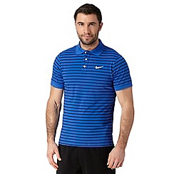 Nike - Blue striped polo shirt