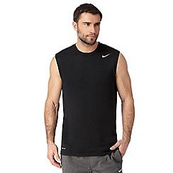 Nike - Black woven logo vest