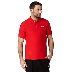 Nike - Red embroidered logo polo shirt