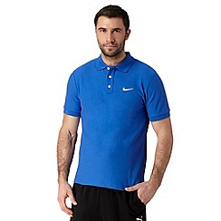 Nike - Blue plain polo shirt