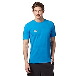 Canterbury - Blue 'VapoDRI' logo print t-shirt