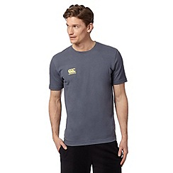 Canterbury - Mid blue 'VapoDRI' logo print t-shirt