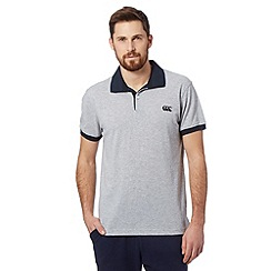 Canterbury - Grey pique polo shirt