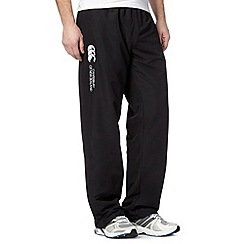 Canterbury - Black cuffed jogging bottoms