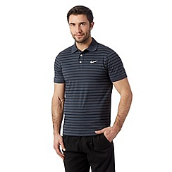 Nike - Grey striped polo shirt