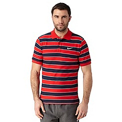 Nike - Red striped polo shirt