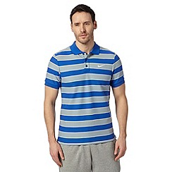 Nike - Royal blue striped cotton polo shirt